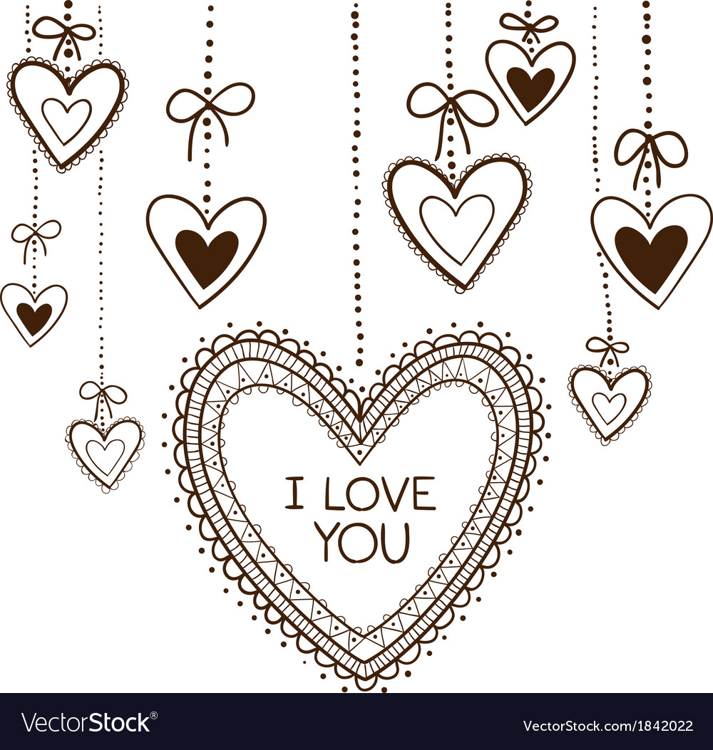 Romantic card concept vector