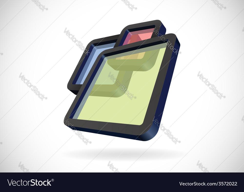 Transparent rectangular frames vector