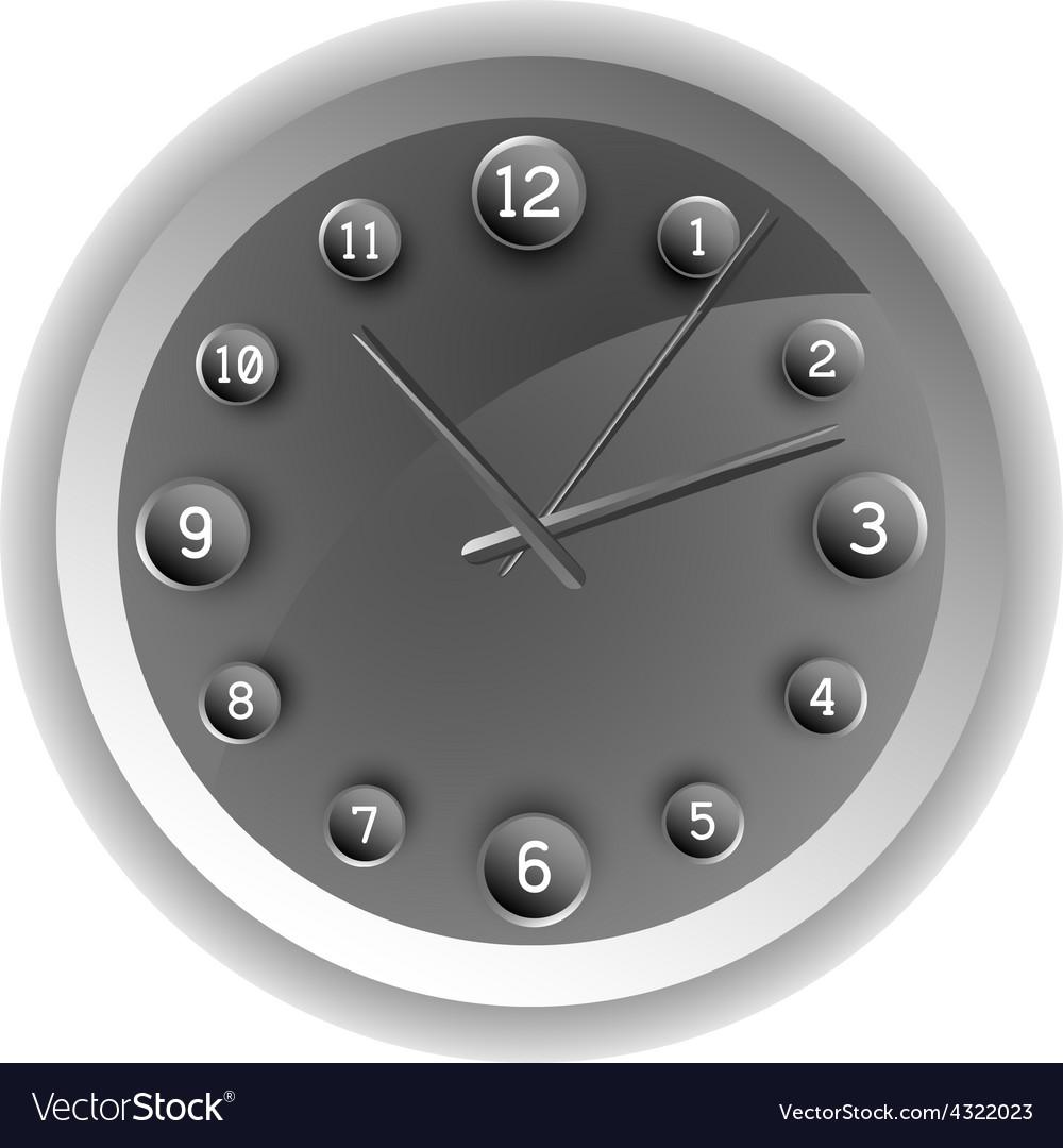 Analog clock the original design vector