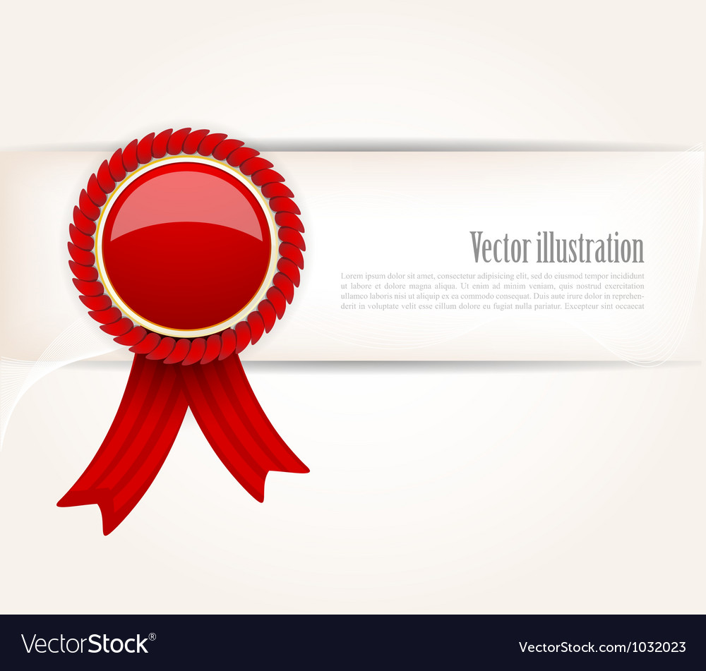 Background with red label vector