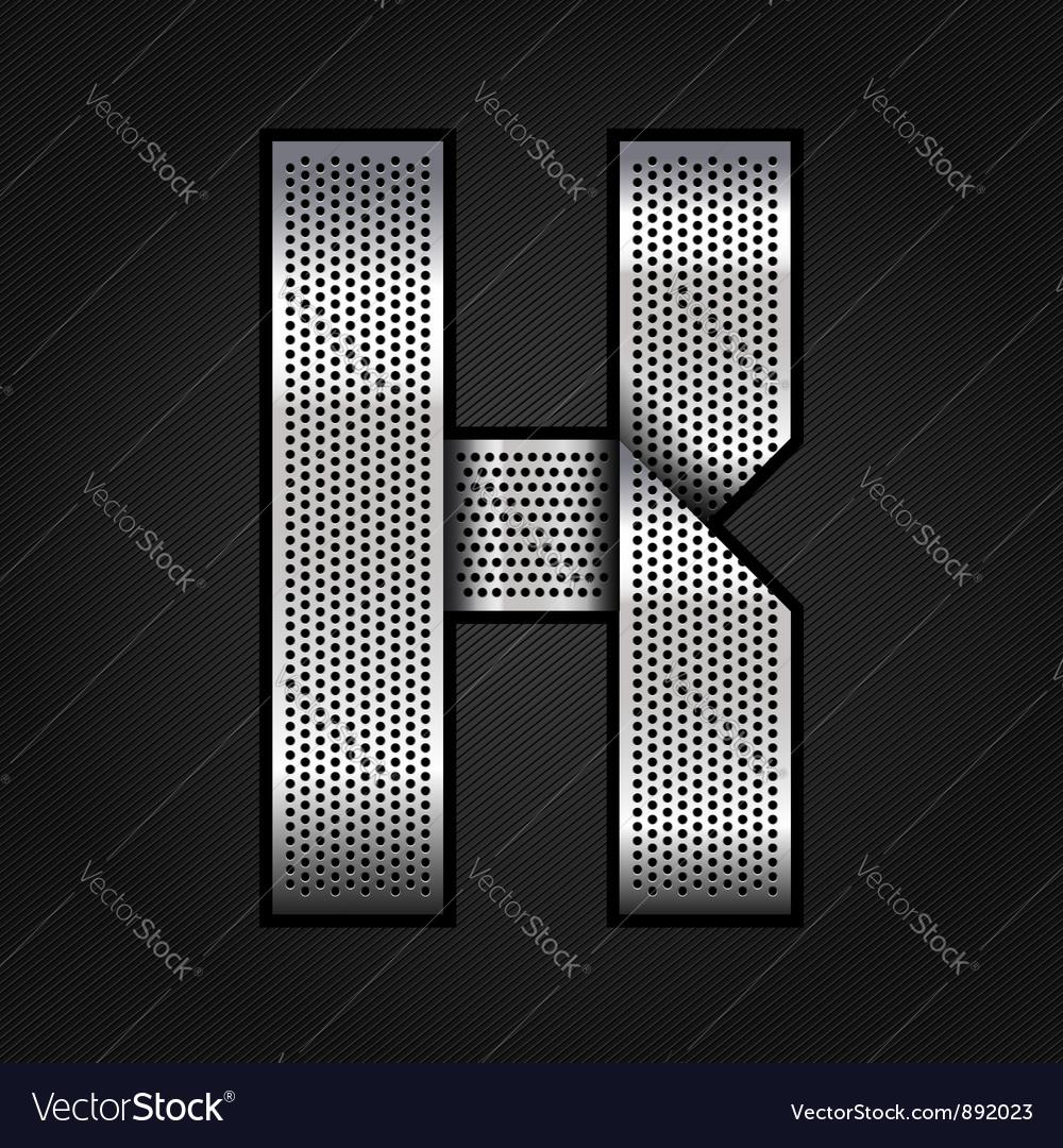 Letter metal chrome ribbon - k vector