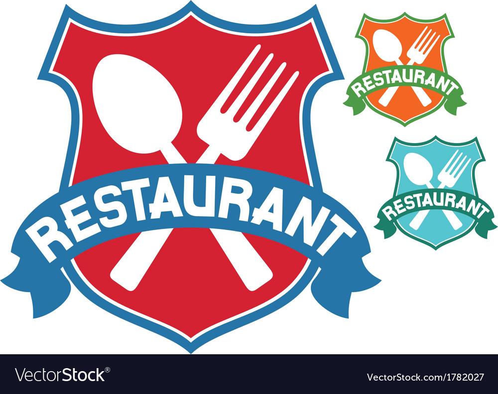 Restaurant label vector