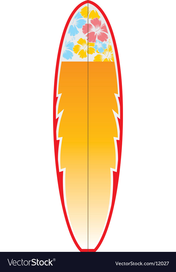 Surfboard vector