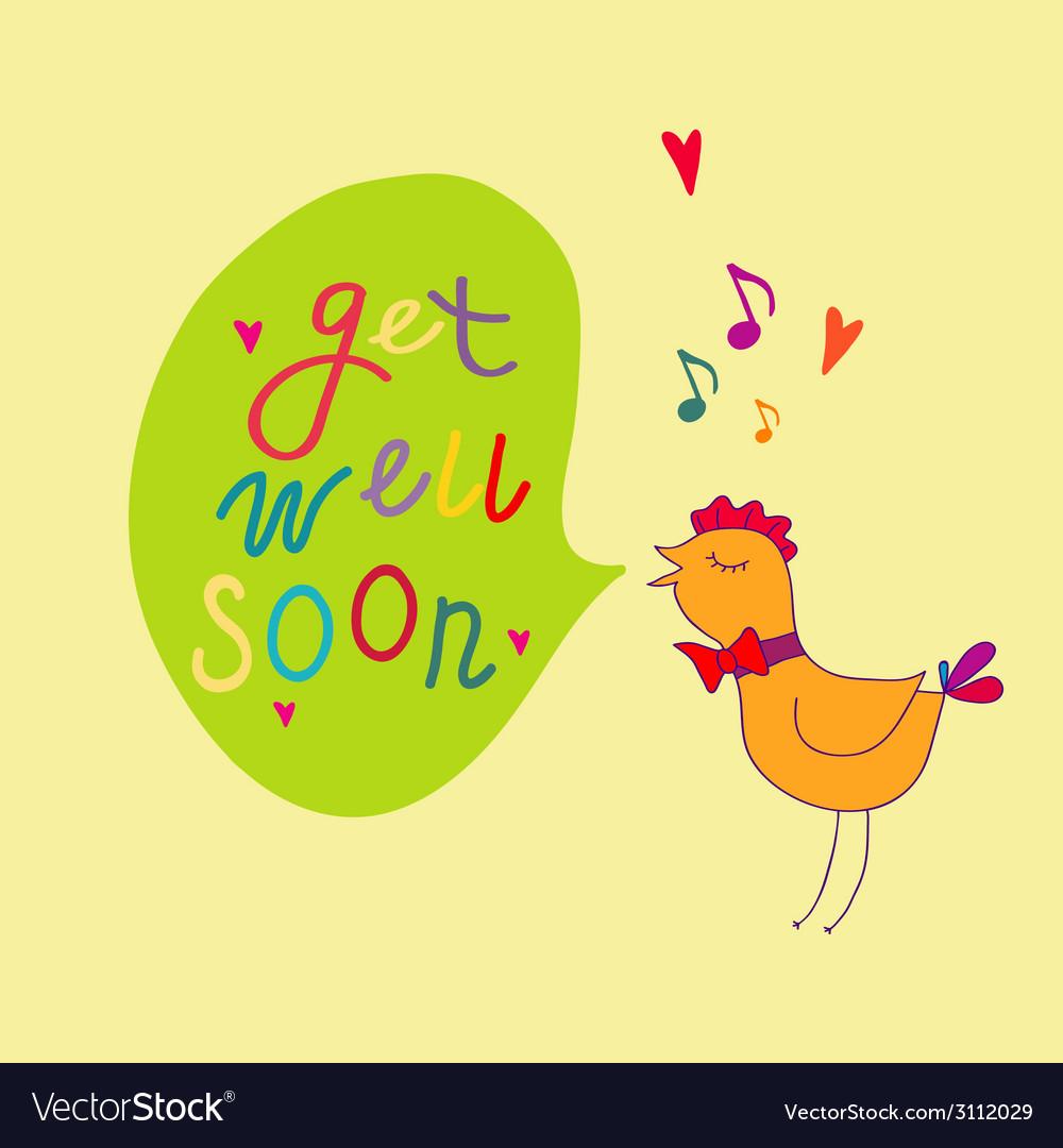 Get well soon vector