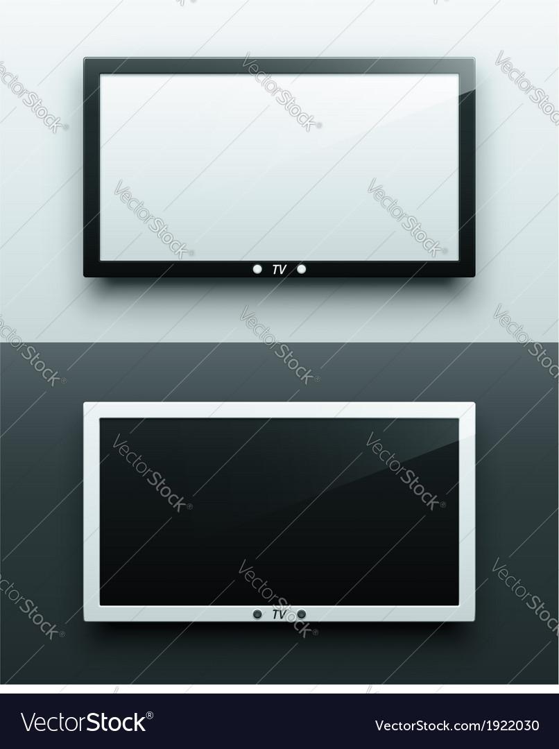 Tv screen hanging vector