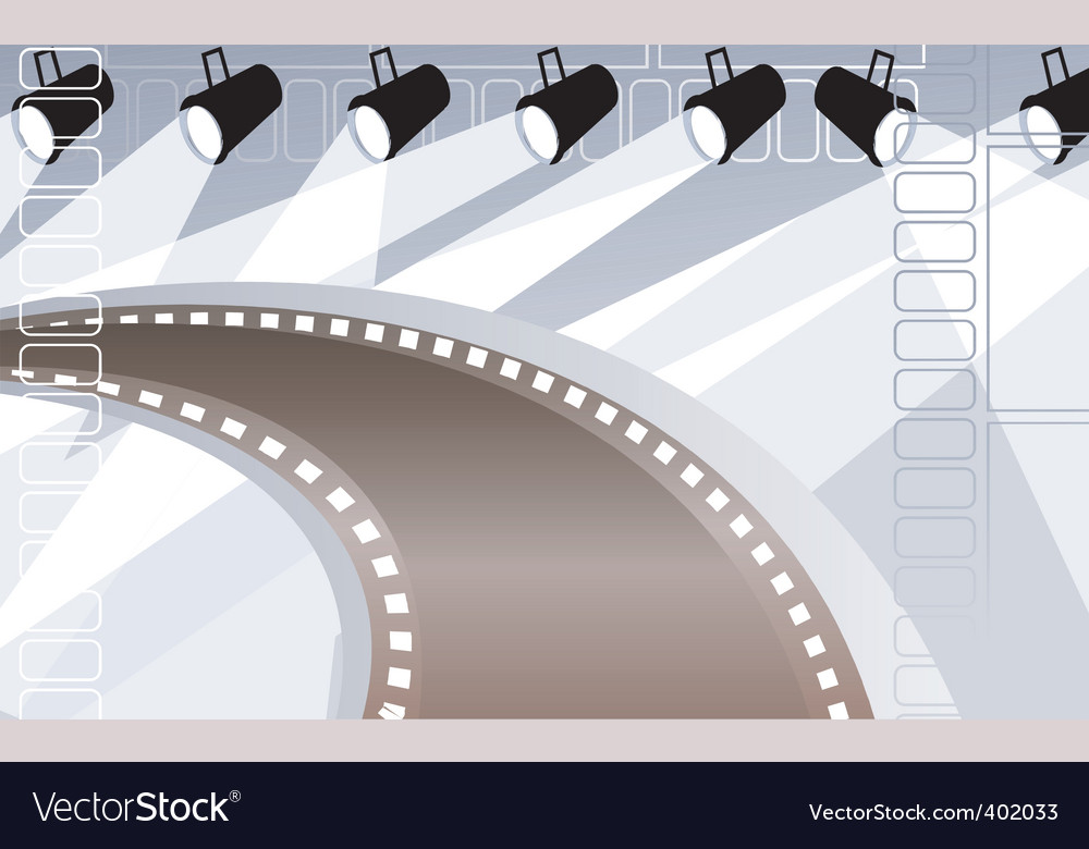 Film with lights vector