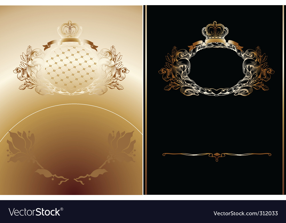 Royal backgrounds vector