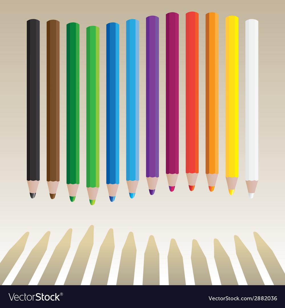 Wavy pencils vector