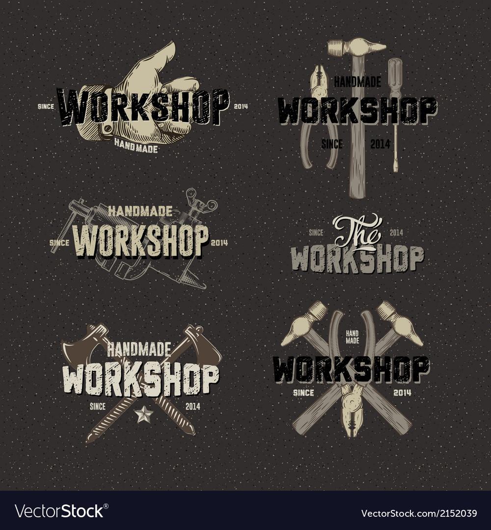 Vintage-workshop-conceptual-labels-vector