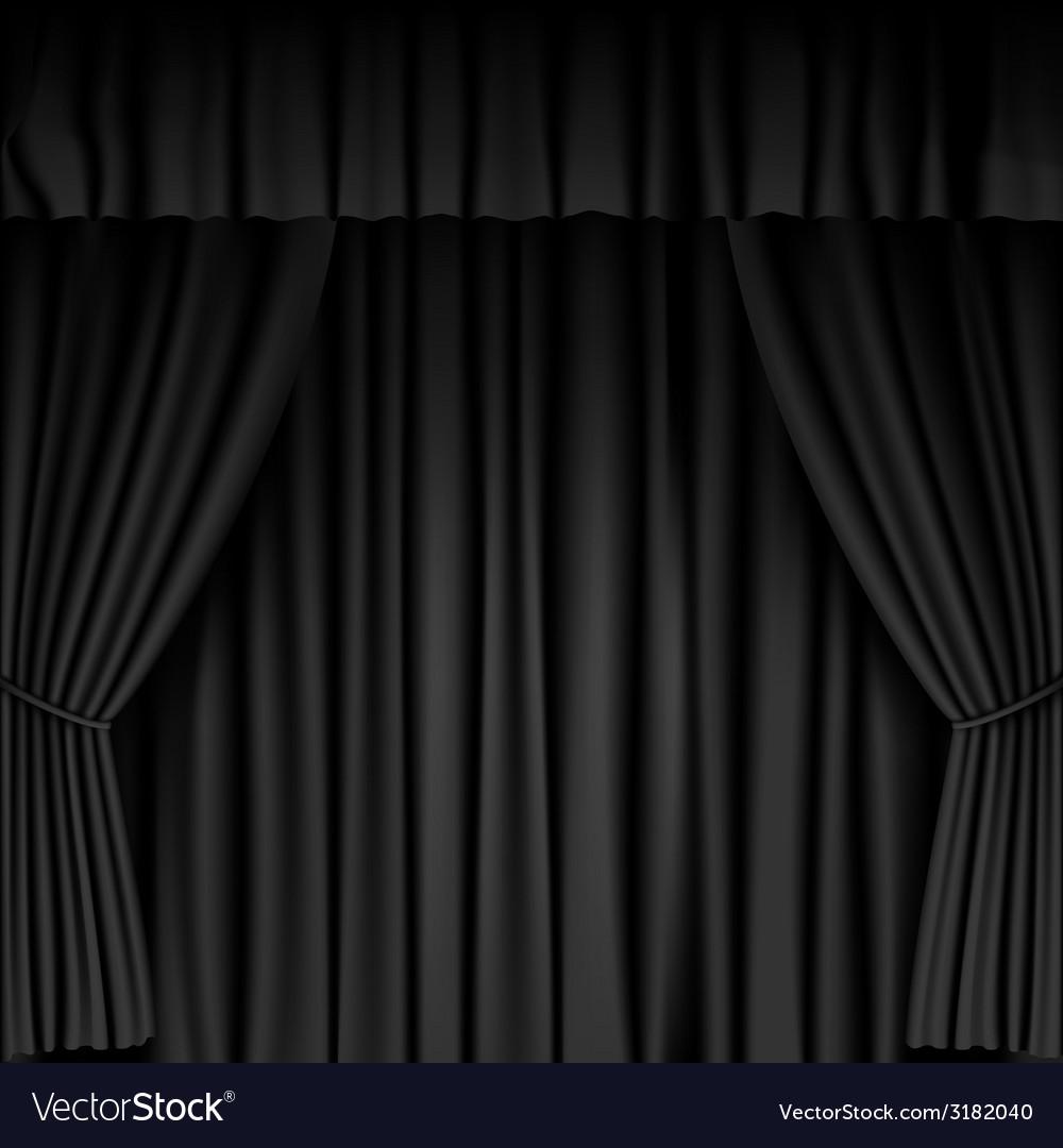 Black curtain vector