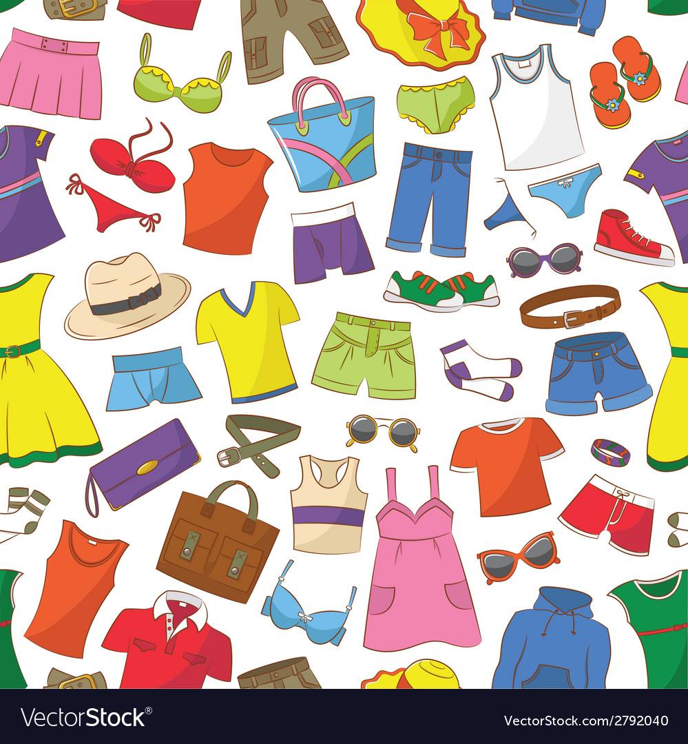 Summer womens and men wear vector