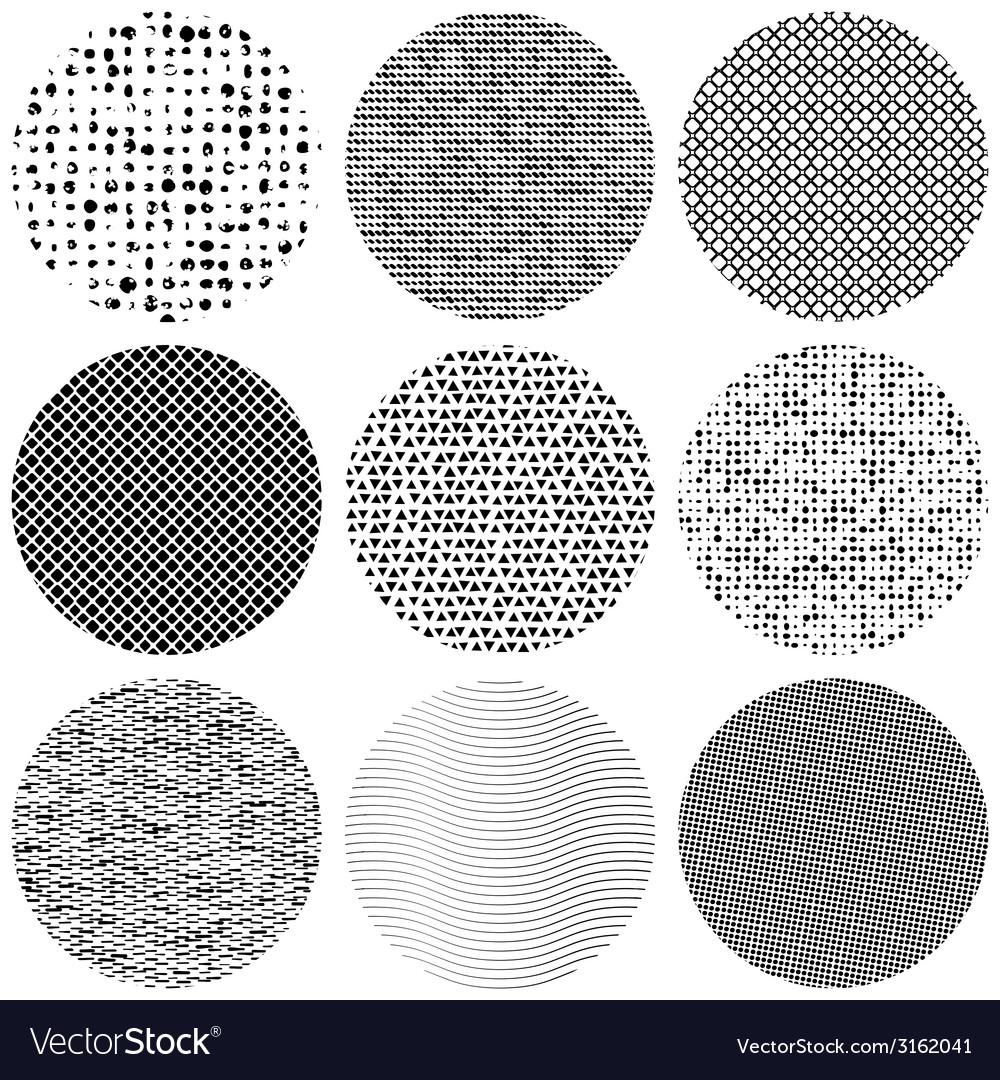 Set texture circle vector