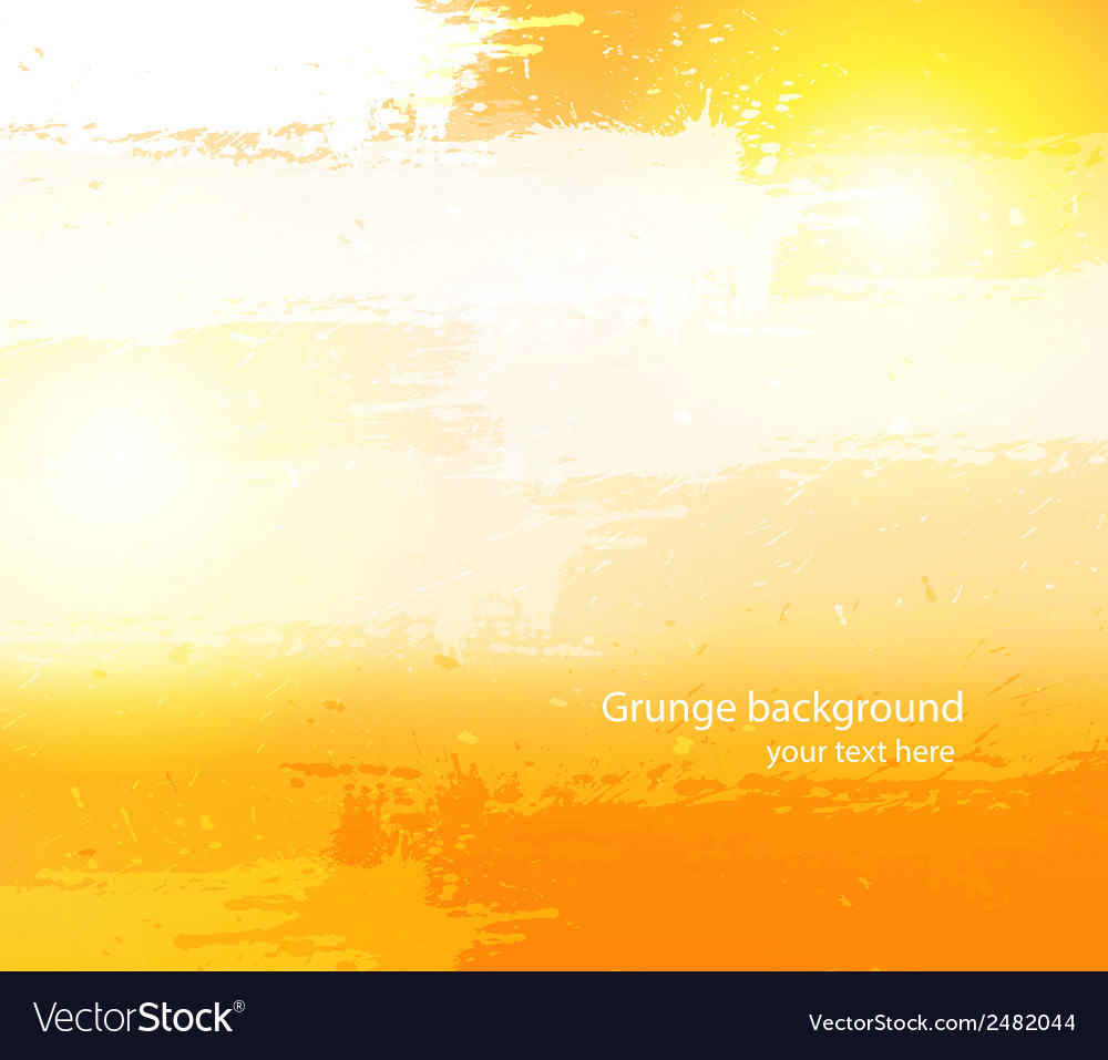 Abstract grunge orange background vector