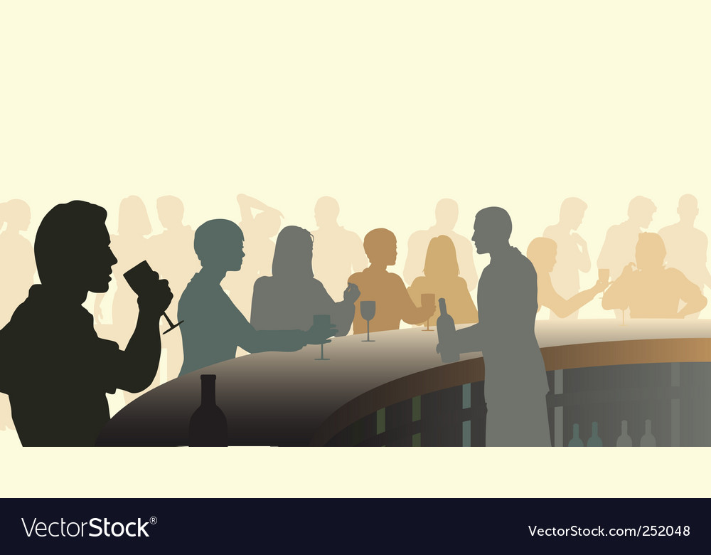 Wine bar vector