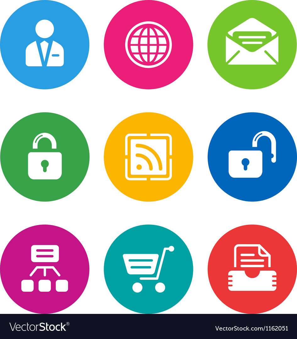 Color web icons vector