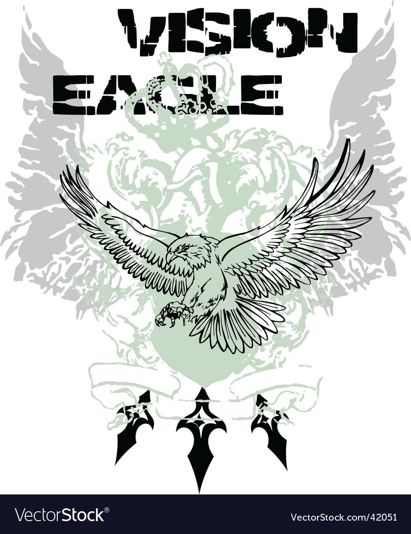 Eagle flying design vector