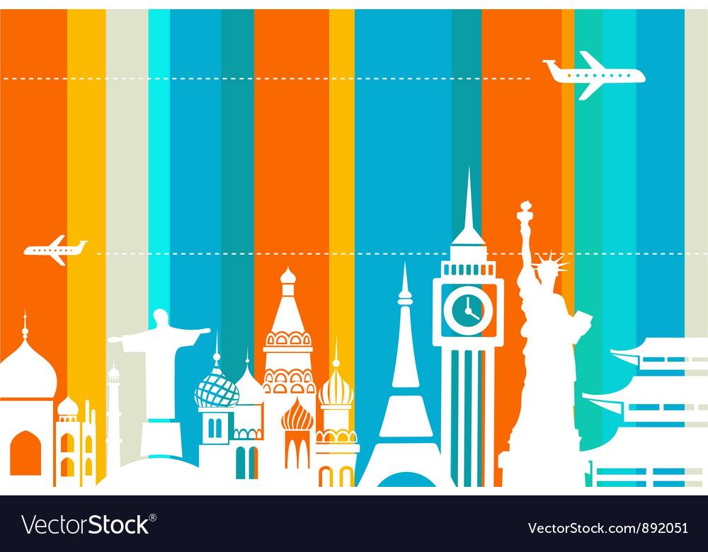 Travel background - vector