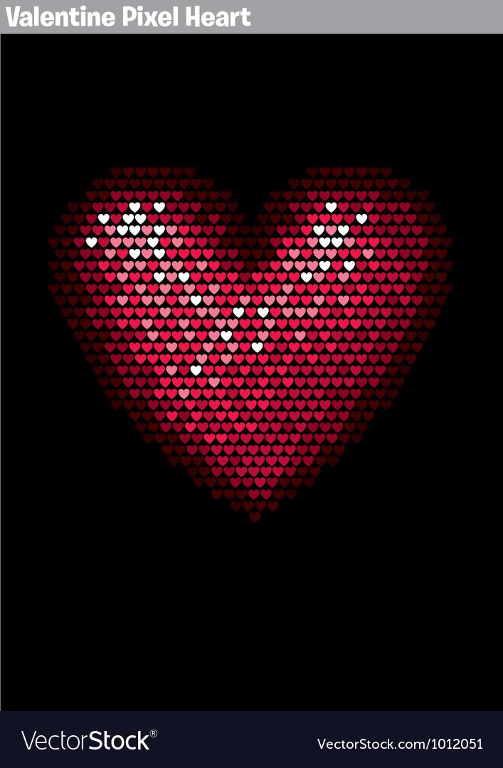 Valentine pixel heart vector