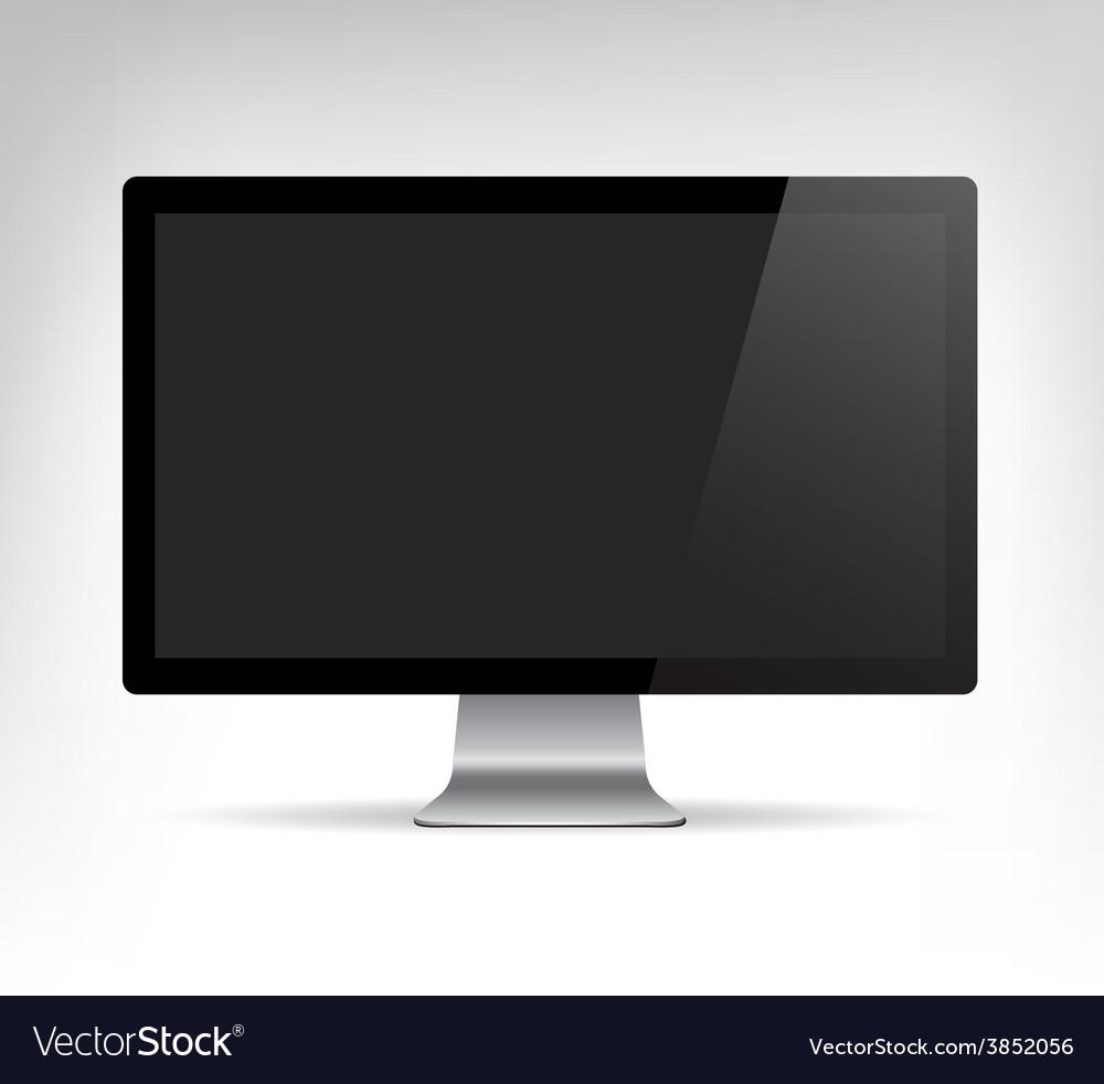 Realistic computer monitor pc display vector