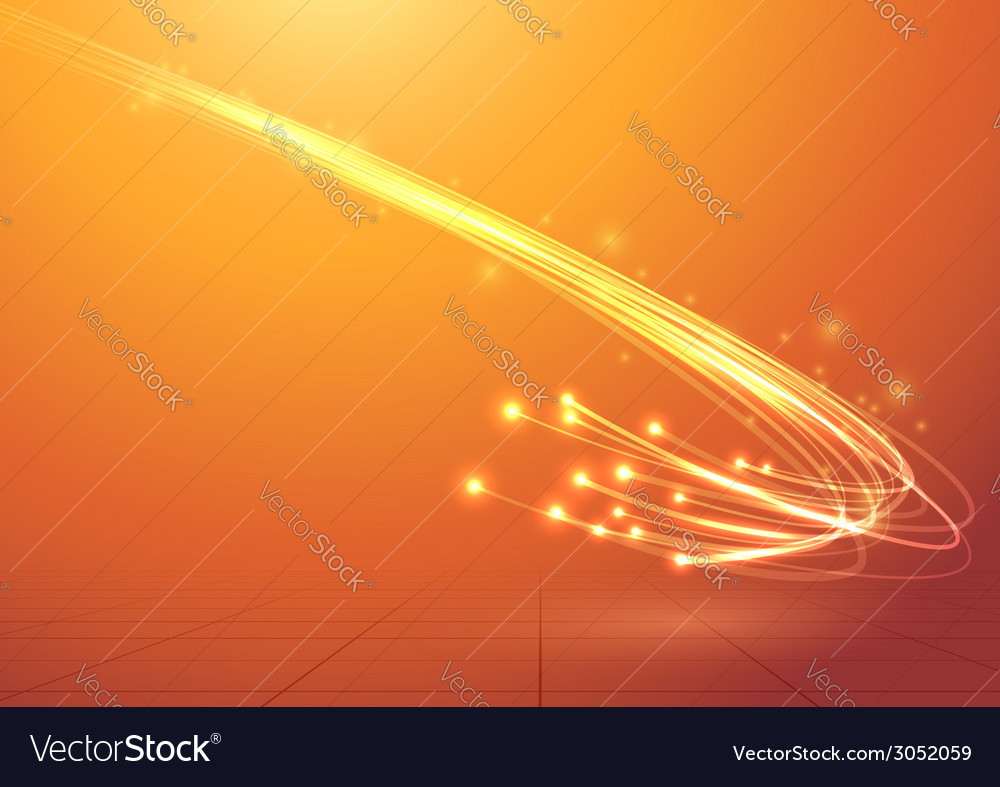 Bright electric abstract cable speed bandwidth vector
