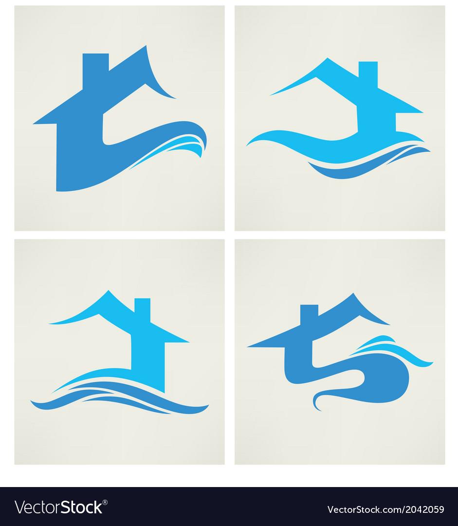 Water home vector
