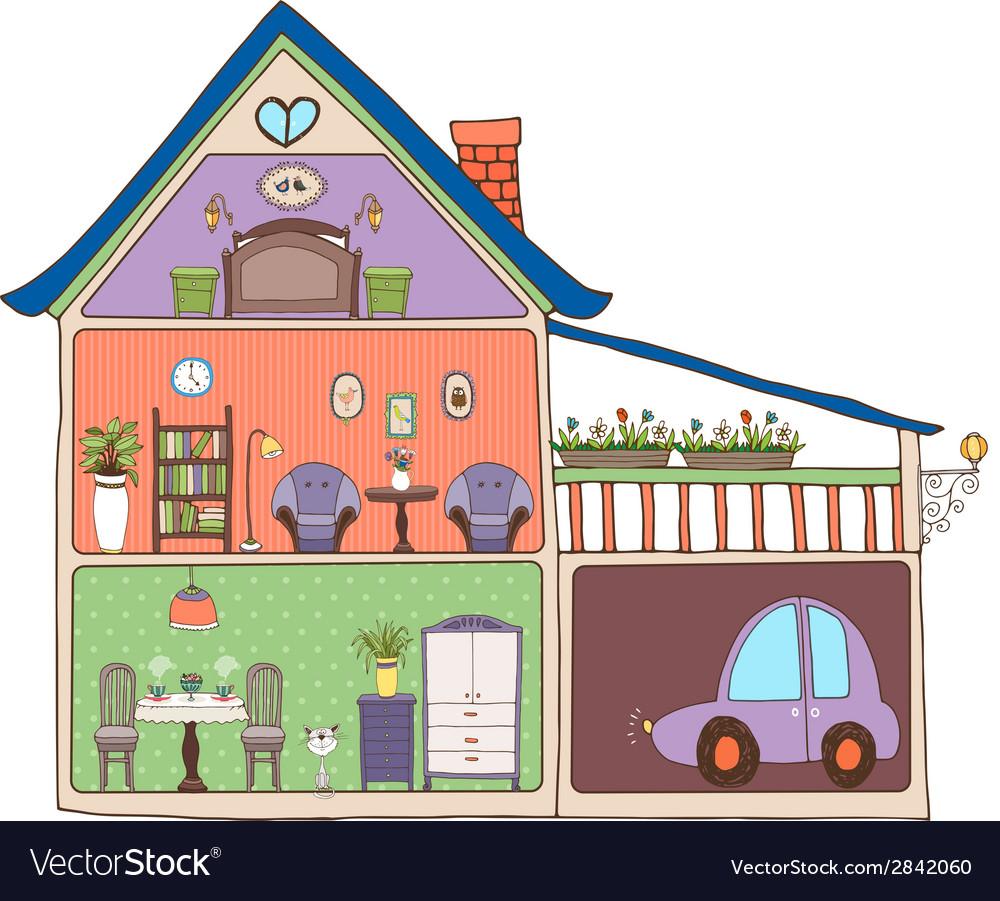 Home interior design and decor vector
