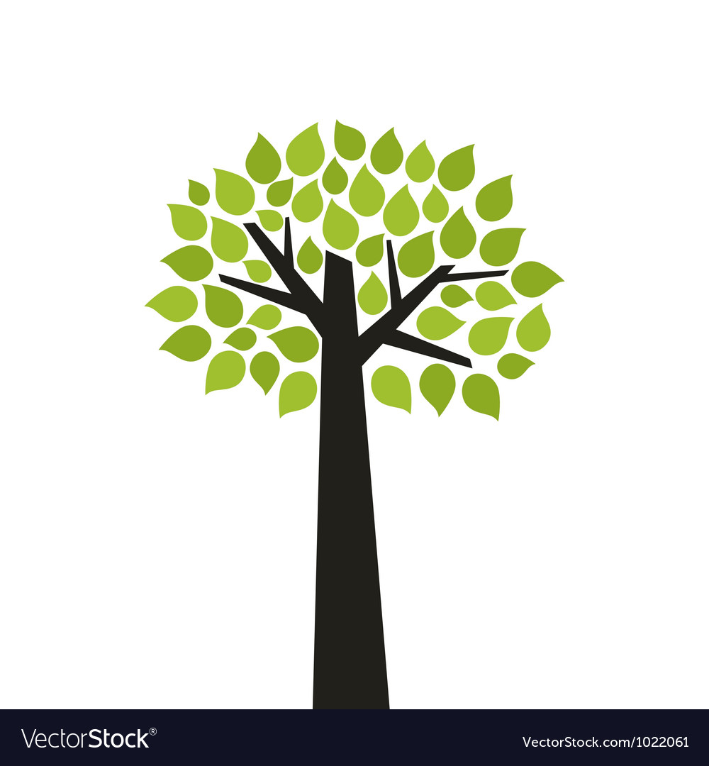 Tree wood vector