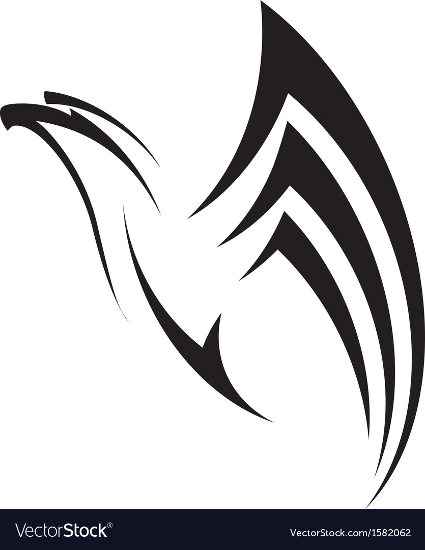Eagle flies up vector
