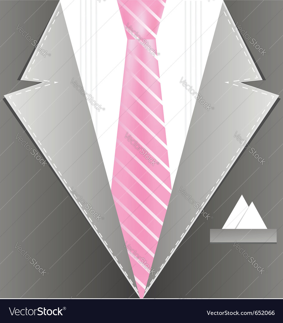 Background male costume vector