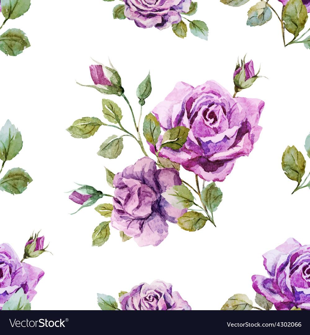 Gentle roses pattern vector