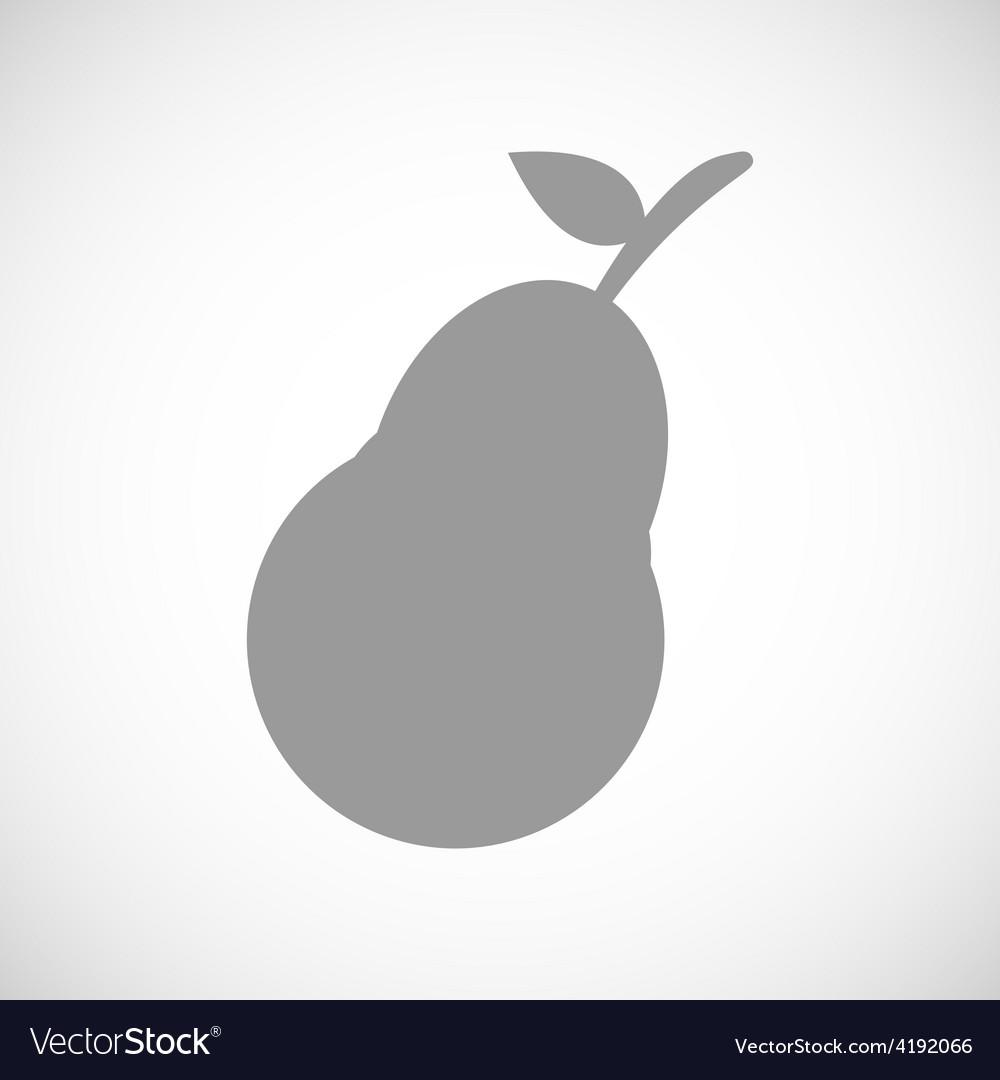 Pear black icon vector