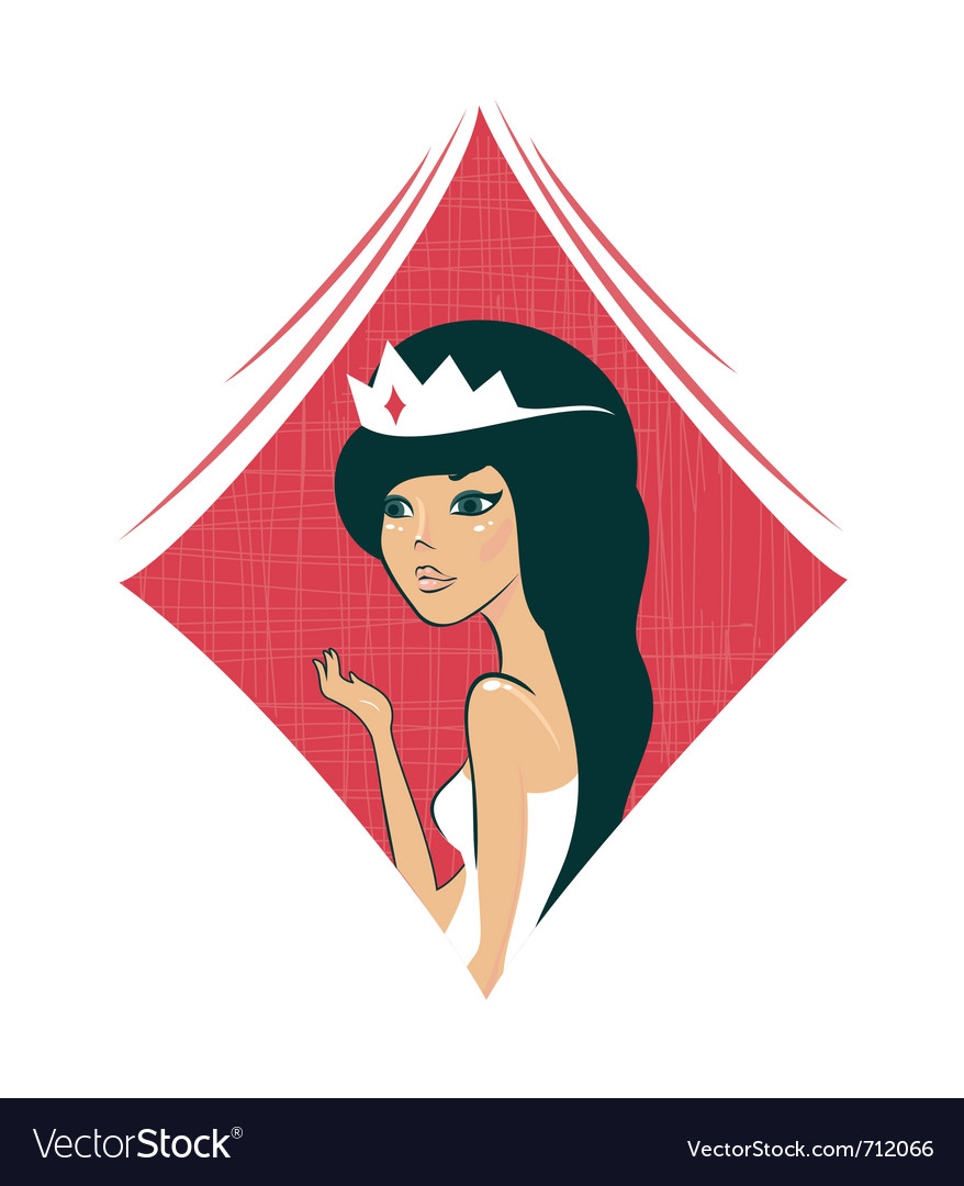 Playing cards girl vector