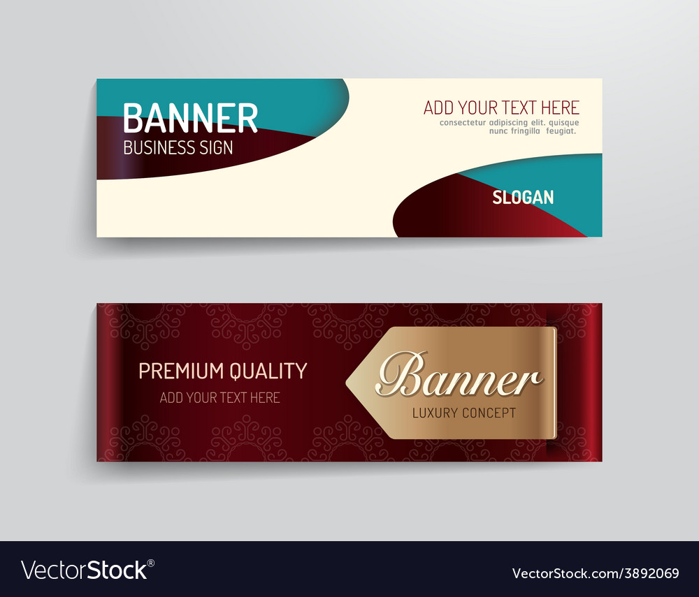 Set of banner template luxury design graphic vector