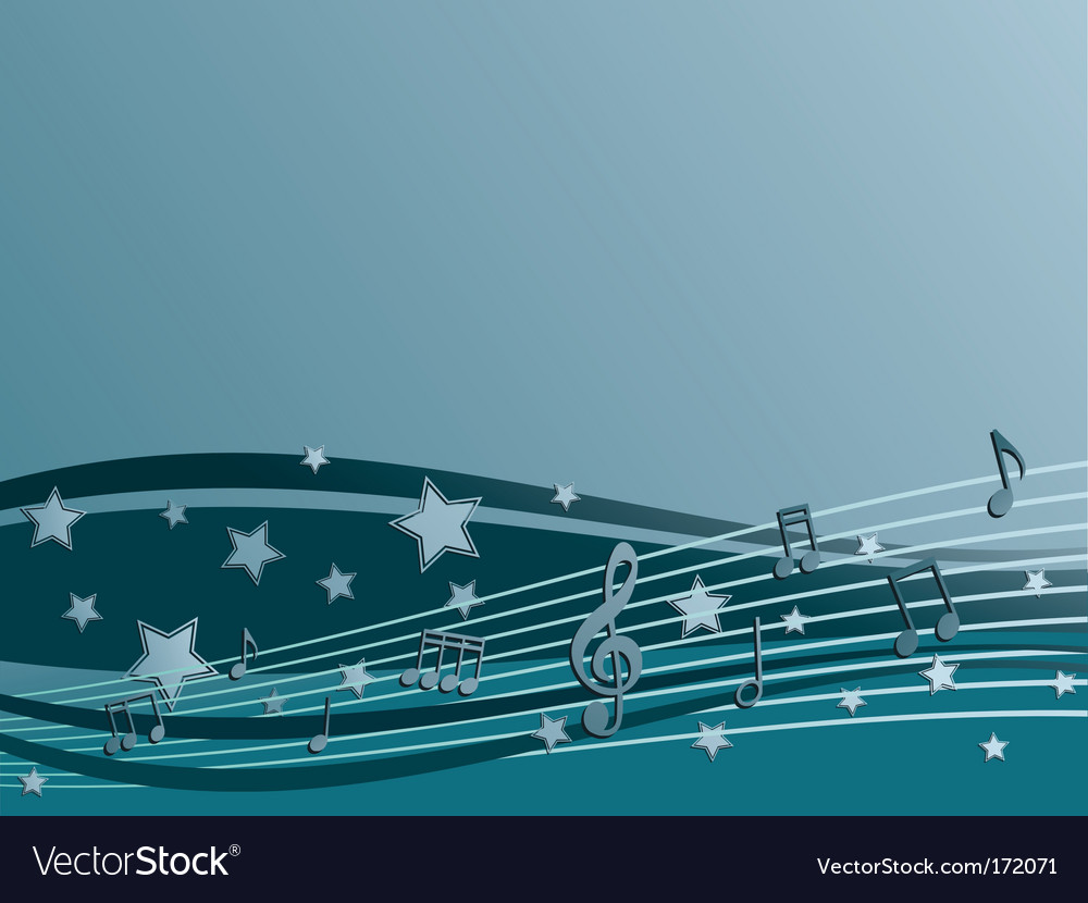 Blue music vector