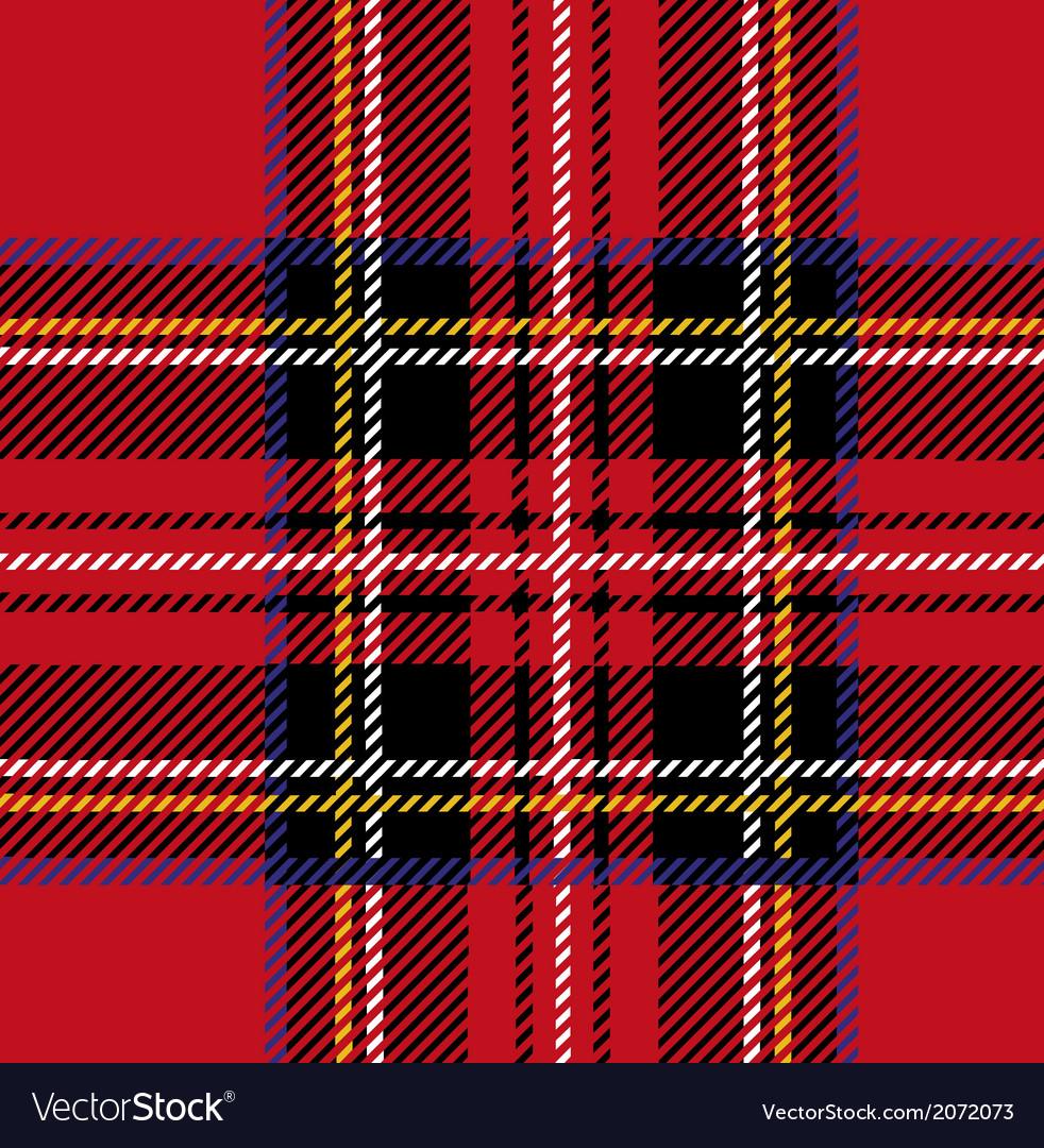 Royal stewart tartan seamless cloth pattern vector
