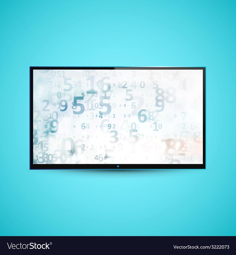 Tv flat screen icd vector