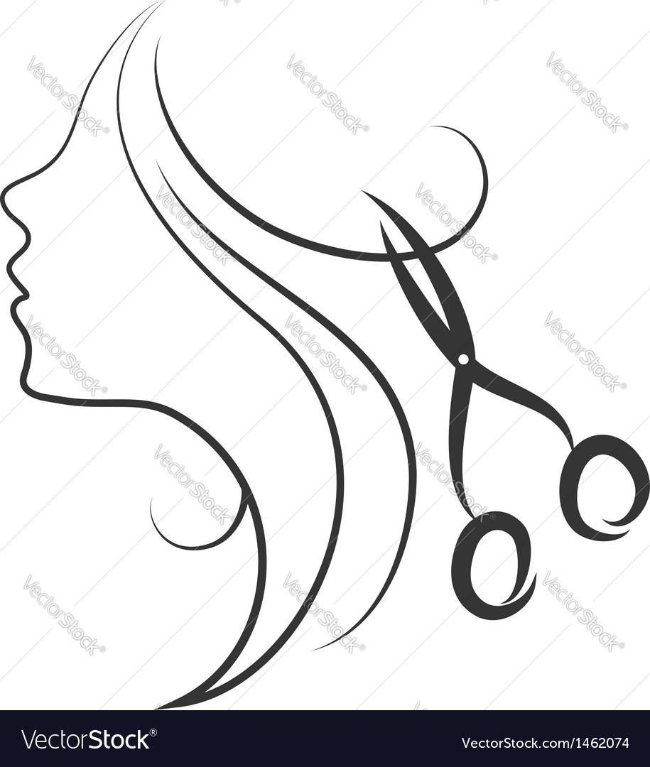 Emblem of beauty salon vector