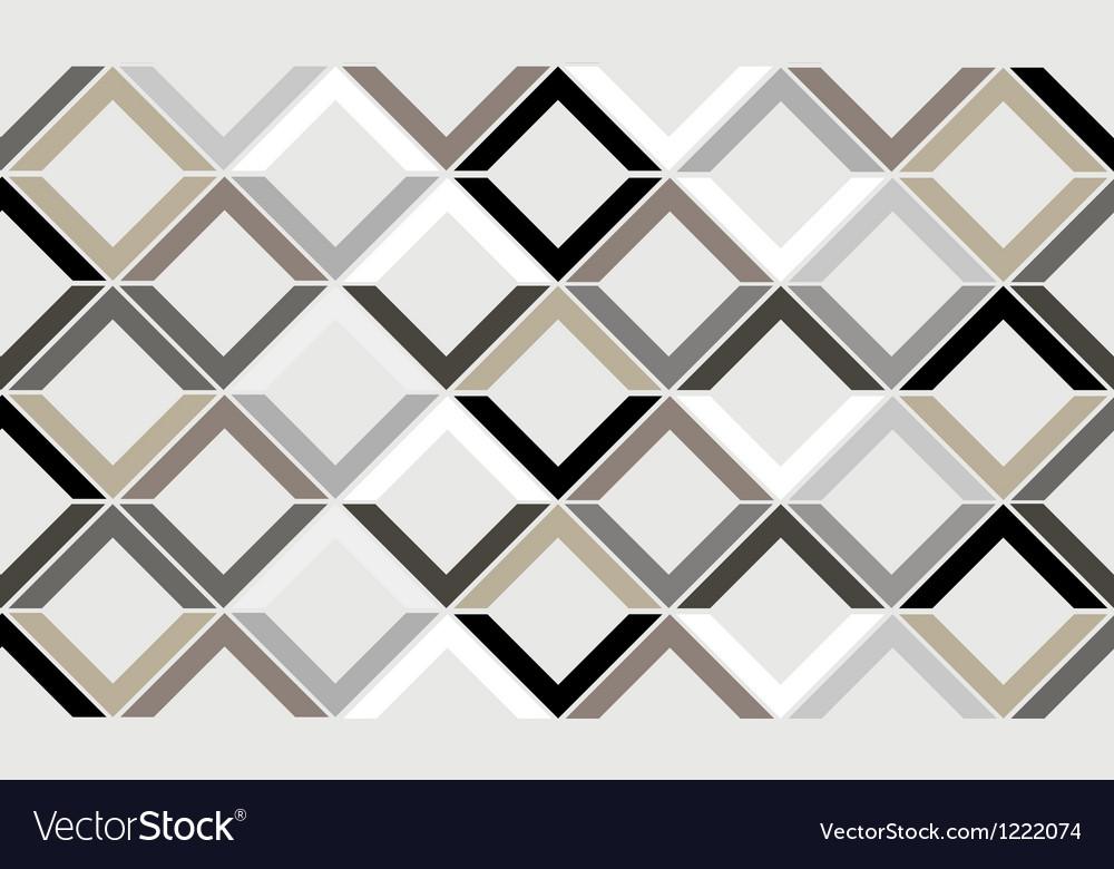Vintage chevron diamond seamless pattern vector