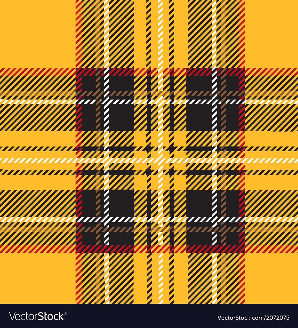 Traditional seamless yellow tartan pattern vector