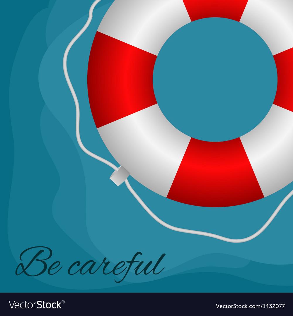 Red buoy vector