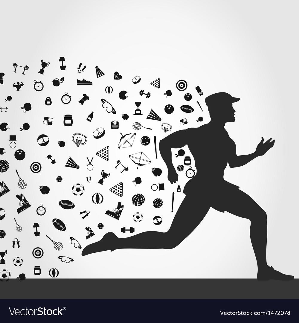 Runner sports vector