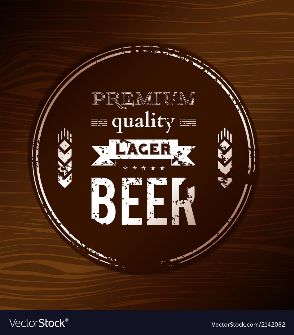 Beer coaster vector