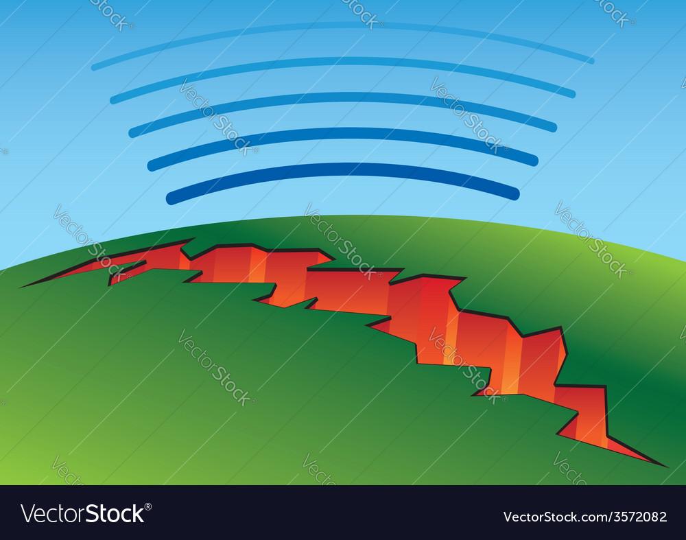Earthquake crack vector