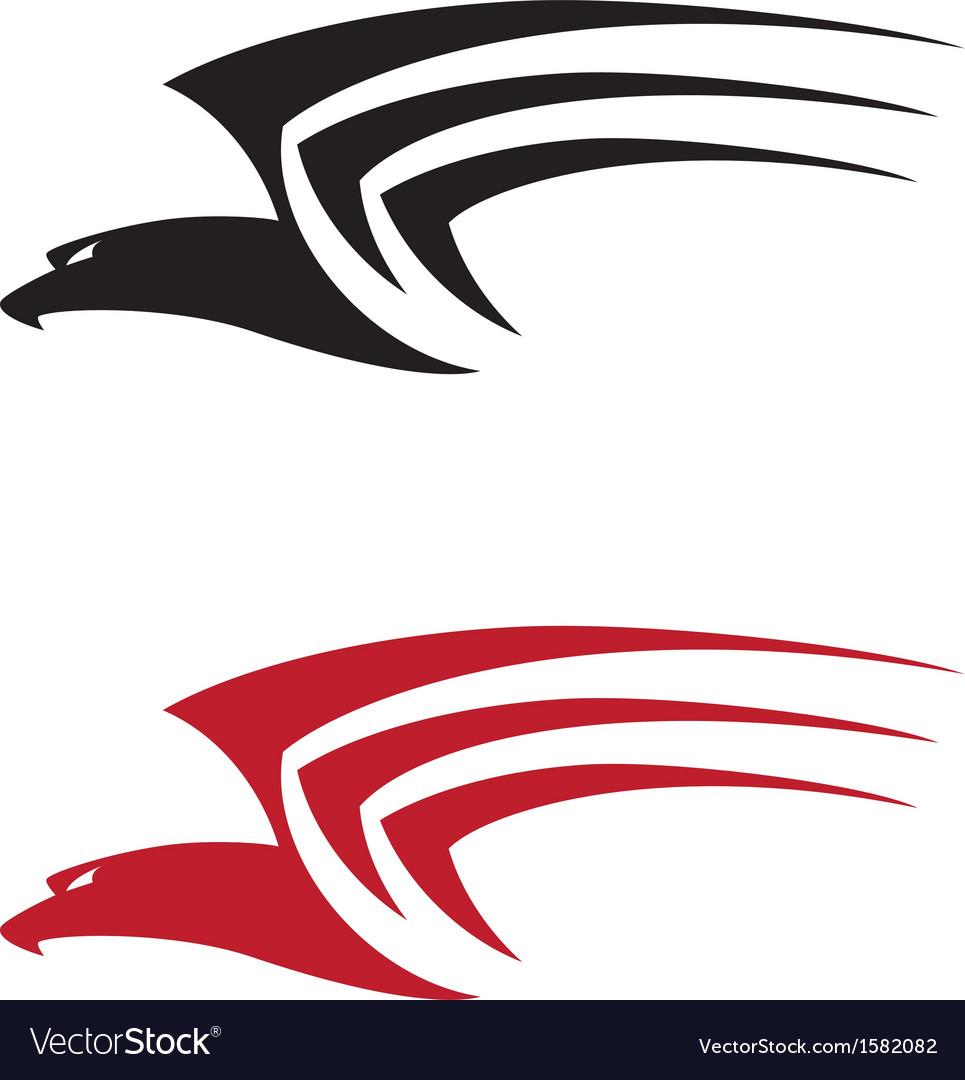 Tatoo big hawk vector