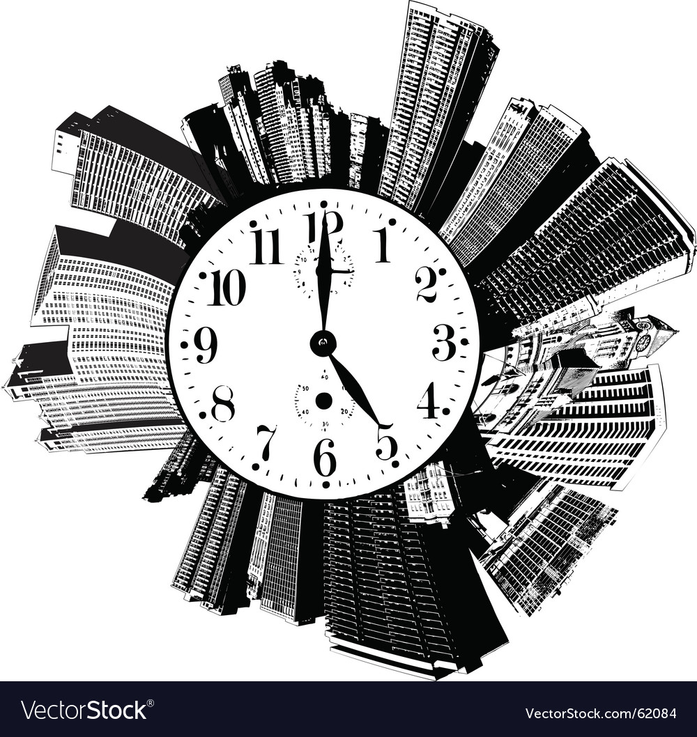 City buildings time vector