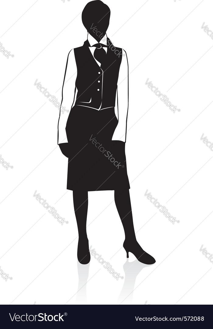 Businesswoman silhouette vector
