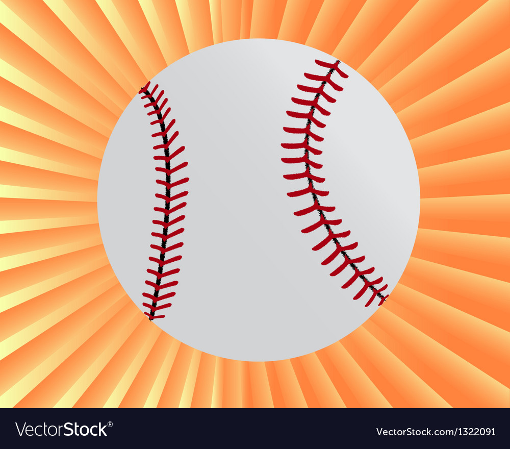 Baseball myach vector