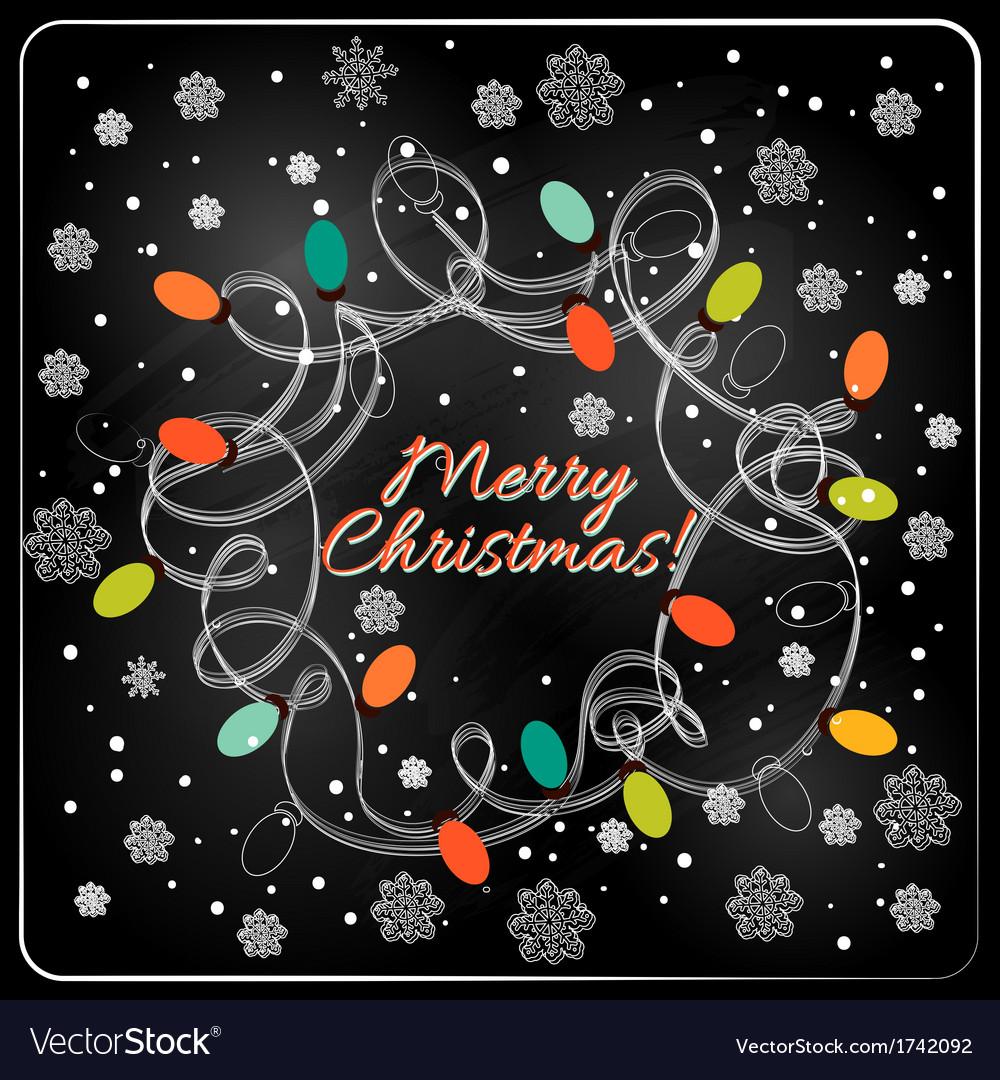 Christmas hand drawn fur tree for xmas design vector