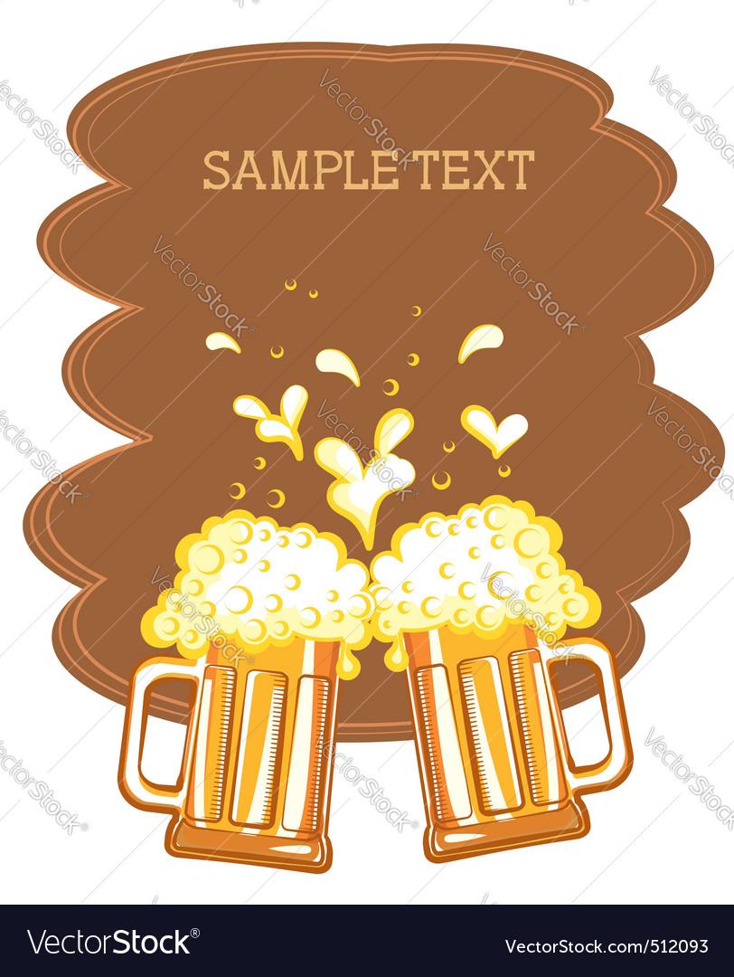 Beer fest background vector