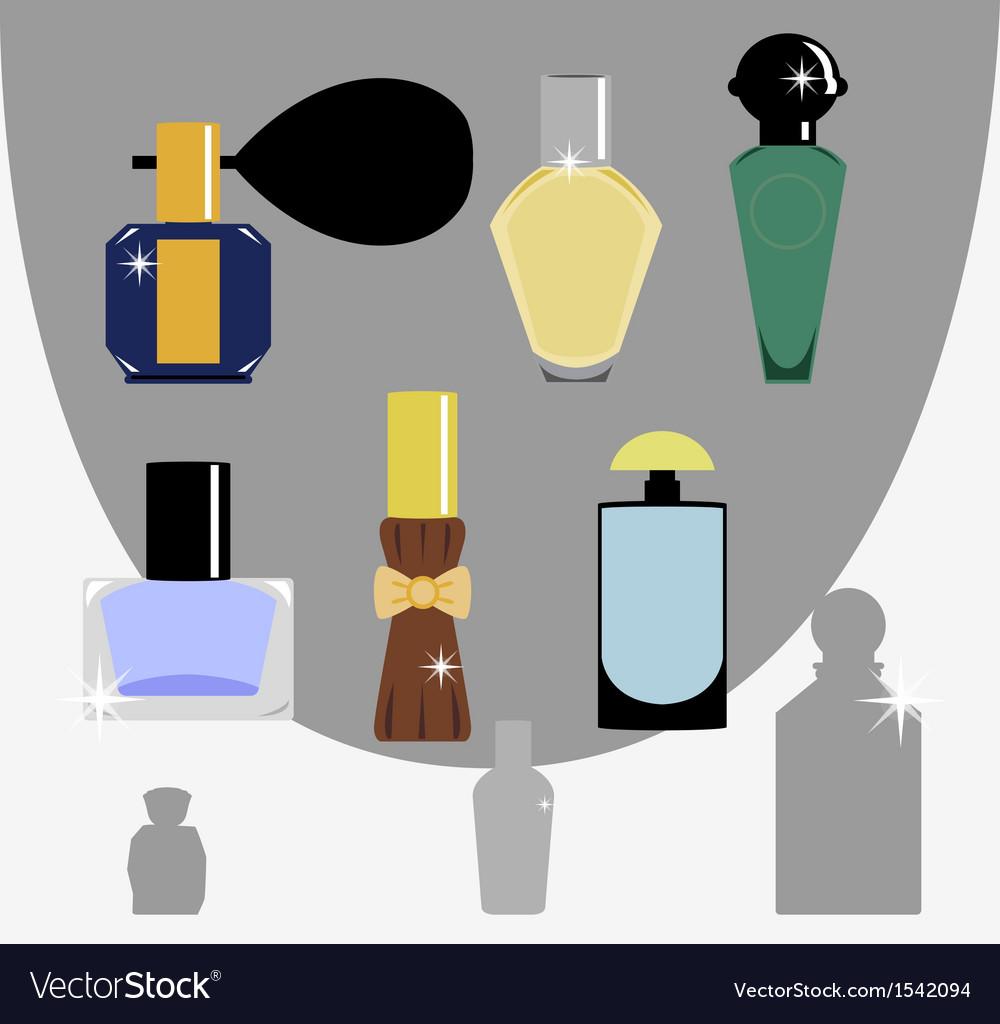 Bottle perfume vector